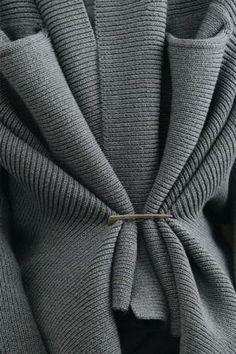 Interesting gathered knit