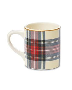 Set of 4 Tartan Mugs by west elm $39.95. Click to purchase (via Williams-Sonoma)