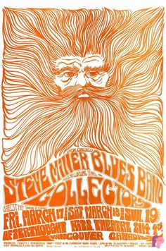 Classic Handbill - Steve Miller Blues Band at Afterthought, Vancouver 3/17-19/67 by Bob Masse