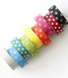 Large Dots Washi Tape Chugoku CHOOSE ONE Gift Wrap by PrettyTape, $2.50 - THE THIRD ONE