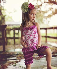 Lavender Scroll Swing Around Halter Top - Toddler & Girls