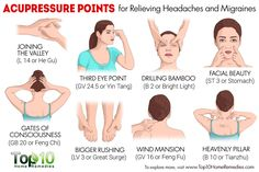 acupressure points for headaches and migraines