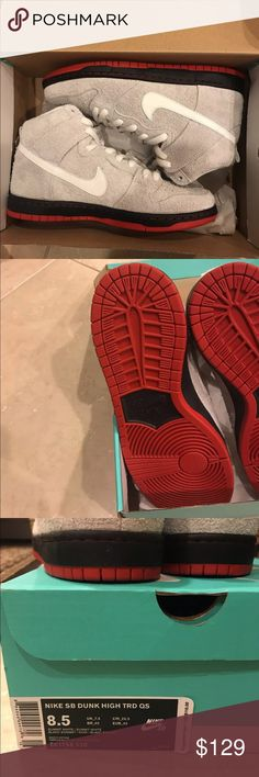 "Nike sb dunk high TRD QS Nike SB Dunk High TRD QS ""Black Sheep Nike Shoes Sneakers"