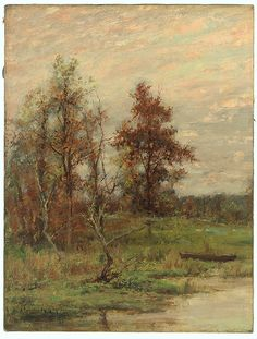 John Francis Murphy, Pasture Lands, October, Near Arkville, New York, 1883 (source).