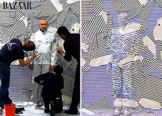 Liu Bolin Paints Lanvin's Alber Elbaz, Jean Paul Gaultier and Others