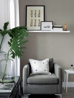 Neutral tones are offset by playful collections of art and design in this family home Home Living Room, Living Spaces, Interior Styling, Interior Design, Appartement Design, Minimal Living, Ikea Hacks, Chair Design, Home Office
