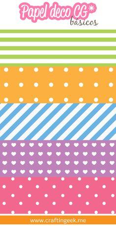 Papel deco básico // Descarga GRATIS: www.craftingeek.me/papel-deco/