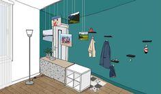 Aménager une entrée ouverte sur le salon sans cloisonner - Créer une entrée