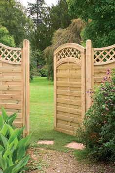 Forest Prague Gate   A popular gate to go with our best selling fence panel. With a decorative lattice top and sturdy mortise and tenon jointed frame. Available in two heights #forestfencing #forestgarden #fencing #gardendesign #gardengate