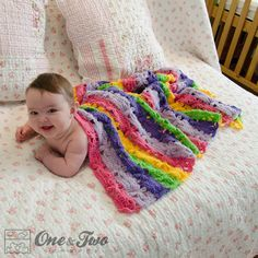 Free crochet pattern for baby blanket by One and Two Company