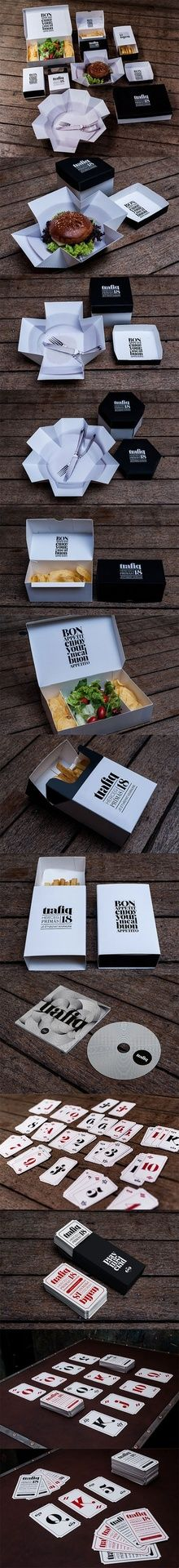 Cool packaging for a restaurant that's earth-friendly too.