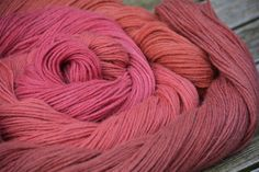 Alpaka natural dyed with Lac Dye