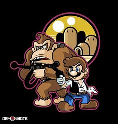 Mario and DK as Han and Chewie (Nintendo meets Star Wars)