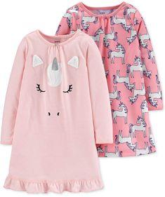 Carter's Little & Big Girls Unicorn Nightgowns - Pink Carter Kids, Unisex Baby Clothes, Babies Clothes, Girls 4, Toddler Girls, Toddler Stuff, Goth Girls, Baby Girls, Girls Pajamas