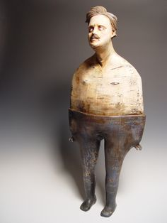 Thadeus Erdahl The Dance Of Lord Cardigan clay, slips, engobes, glaze, wax & encaustic 30 x 13 x 7 inches 2011