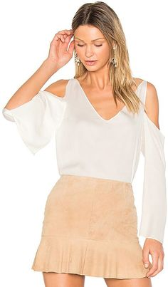 Shop for Frankie Open Shoulder Blouse in Off White at REVOLVE. Free day shipping and returns, 30 day price match guarantee. Revolve Clothing, Off White, Cold Shoulder Dress, Shopping, Tops, Dresses, Women, Blouses, Sleeve