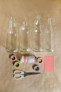 fun with washi tape & dots - this is right up my alley!