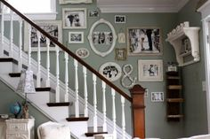 Love the variety of this gallery wall
