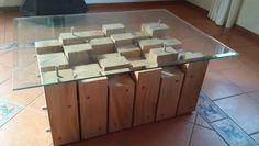 Eucalyptus table made in 2013 named Manhattan