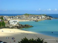 Looking down on St. Ives Bay in the summer