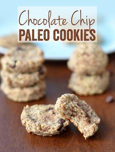 Chocolate Chip Paleo Cookies #paleo