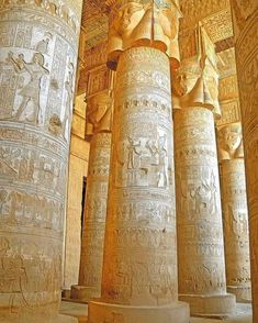 Dendera Temple Complex The outer Hypostyle Hall. Dendera Temple Complex The outer Hypostyle Hall in the Temple of Hathor at Dendera. It is one of the best-preserved temple complexes in Egypt. Ancient Egypt, Ancient History, Ancient Greek, Important People In History, Egypt Museum, Valley Of The Kings, Egypt Art, Sacred Architecture, Africa Travel