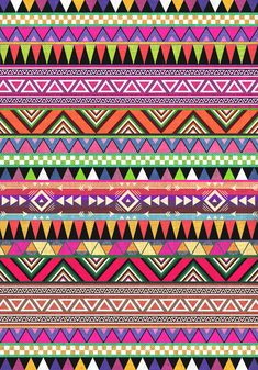 OVERDOSE colorful tribal pattern