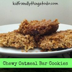 Chewy Oatmeal Bar Cookies. These really taste like a chewy granola bar!