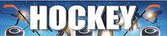 "Reminisce HOCKEY 2"" x 10"" TITLE STICKER scrapbooking"
