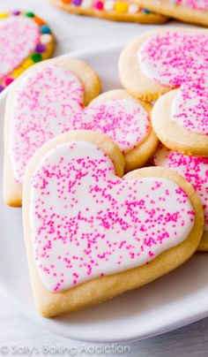 DIY Valentines Day Cookies - Soft Cut-Out Sugar Cookies - Easy Cookie Recipes and Recipe Ideas for Valentines Day - Cute DIY Decorated Cookies for Kids, Homemade Box Cookies and Bouquet Ideas - Sugar Cookie Icing Tutorials With Step by Step Instructions - Quick, Cheap Valentine Gift Ideas for Him and Her http://diyjoy.com/diy-valentines-day-cookie-recipes