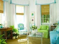 Green turquoise living room