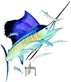 sailfish poster by carey chen chen poster and products. Black Bedroom Furniture Sets. Home Design Ideas
