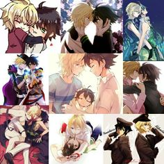 Mika And Yu, Disney Princess Drawings, Mikaela Hyakuya, Seraph Of The End, Owari No Seraph, Yuu, Kokoro, Nice Things, Anime Couples