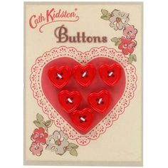 boutons cœurs