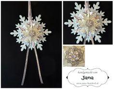 Janas Bastelwelt: Schneeflocken-Ornament