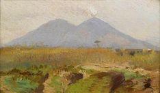 Giuseppe de Nittis (Barletta 1846–1884 Saint Germain-en-Laye) - Blick auf den Vesuv.