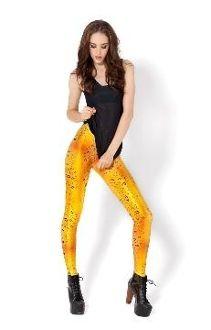 Gold Fashion Leggings