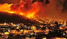 Incêndio no Chile: cenas dramáticas de bombeiros e moradores em fuga | #Bombeiros, #Eucaliptos, #Incêndio, #Quilpué, #Valparaíso