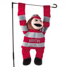 Ohio State garden flag   ... NCAA > Ohio State Buckeyes > Ohio State Buckeyes 3D Mascot Garden Flag