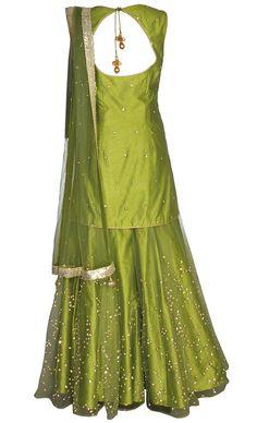 Mehndi Green Sharara Set