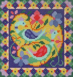 Bird Garden Counted Cross stitch Kit with by SpottedSkink on Etsy