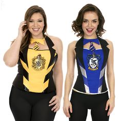 Harry Potter Hufflepuff and Ravenclaw Corsets