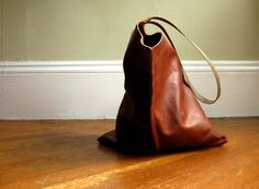 leather wedge tote