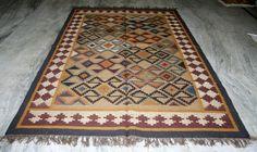 6x9 ft. Kilim Turkish Vintage Kilim Area Rug Wool Jute ~~ ANTIQUE RUGS EDH #Turkish