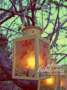 Craft Tutorial: Photo Lanterns - Ready for a fun project? This is one of those craft tutorials that you can imagine doing because it's fun and festive but also practical and timely with warmer days here.
