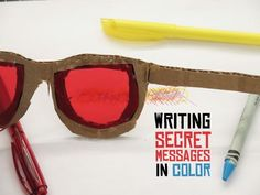 Secret Messages in Color Whether you're teaching the science of light or a spy in training, this project is a barrel full of fun!Whether you're teaching the science of light or a spy in training, this project is a barrel full of fun! Escape Room Diy, Escape Room For Kids, Escape Room Puzzles, Escape Box, Secret Code, The Secret, Message Secret, Escape The Classroom, Spy Glasses