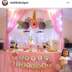 TheCraftySagAnnie shared a new photo on Etsy Paper Flowers PDF Petal 155 Exquisite ROSE Flower Template Unicorn Themed Birthday Party, Unicorn Birthday Parties, First Birthday Parties, Birthday Party Decorations, First Birthdays, Birthday Ideas, 5th Birthday, Flower Petal Template, Unicorn Baby Shower