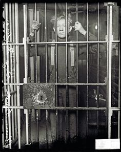 """Elmer Fanter, the """"Boy Murderer,"""" behind bars.   Chicago, March 2, 1915  From the Chicago Historical Homicide Project"""