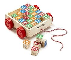 Melissa und Doug Education and Learning Alphabet Wooden Blocks for Toddlers NEW #MelissaDoug