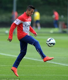 Lovely touch: Alexis Sanchez is preparing to make his Premier League debut against Crystal...
